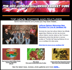 JamBase National Newsletter October